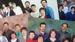 Collage of Mennonite Media staff photos over the years. Can you spot Doris?
